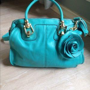 Melie Bianco teal bag NWOT