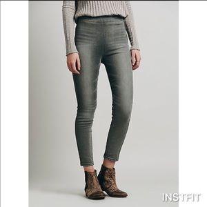 Free People side zip skinny jeans leggings