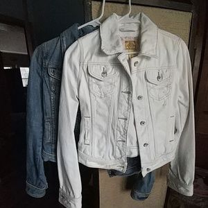 2 Abercrombie and Fitch jean jackets