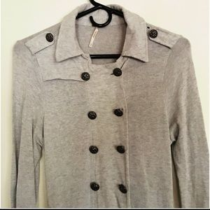Free People Military-Style Trench Duster Jacket