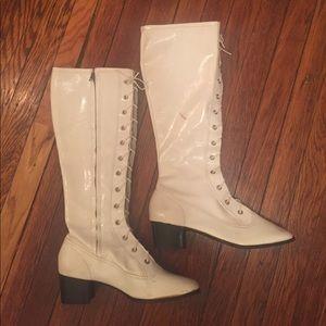 Vintage White Go Go Boots