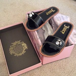 Juicy Couture Brand New W/Box Black Patent Sandals