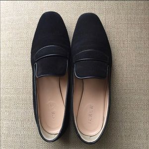 J Crew suede loafers