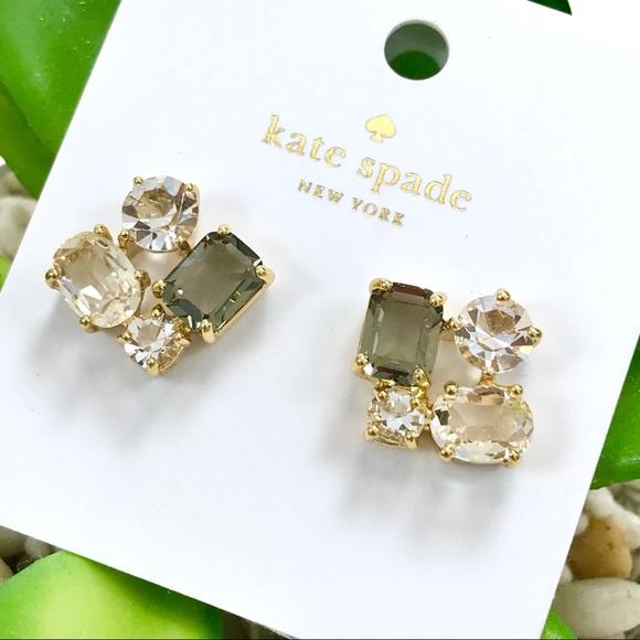 07fb109e942c0 Kate Spade Cluster Earrings in Neutral Multicolor