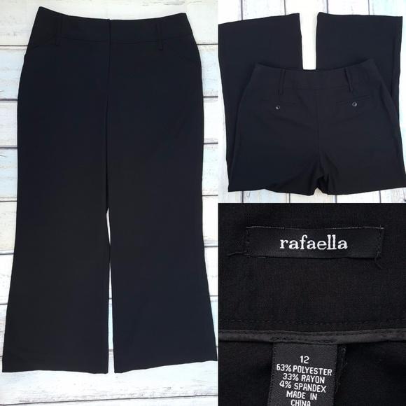 Rafaella Pants Black Dress Wpockets 12 34x28 Hem Poshmark