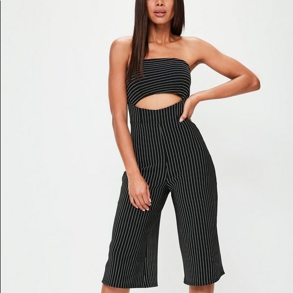 aab65f6709 Missguided Other - Pinstripe Cutout Jumpsuit