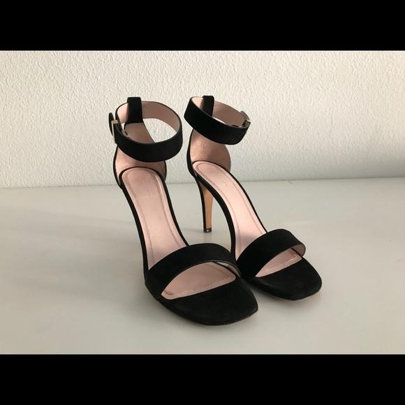 Celine Strappy Black Suede Heels