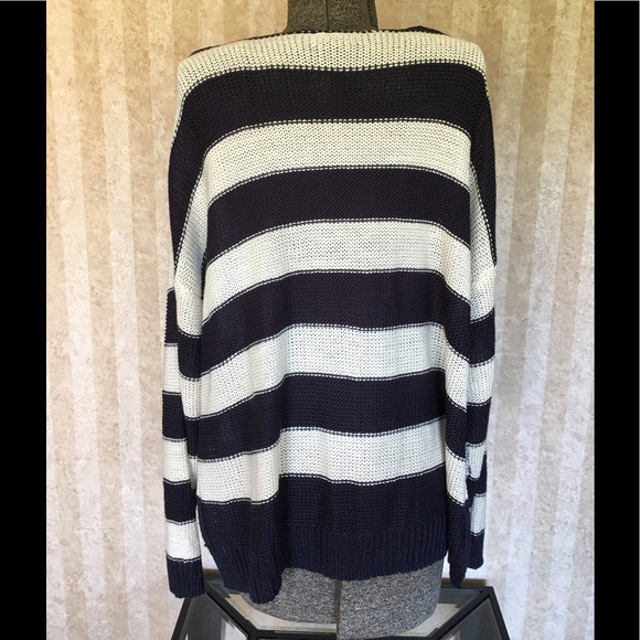 H&M Sweaters - H&M blue and white striped sweater.
