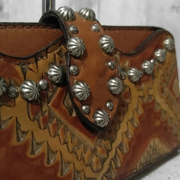 Double J Saddlery Western Tooled Wallet NWT