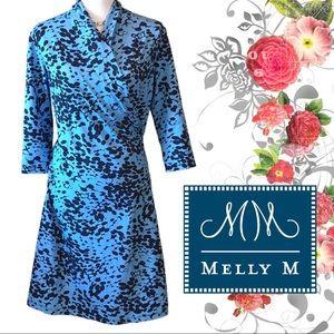 Melly M Faux Wrap Dress NWT