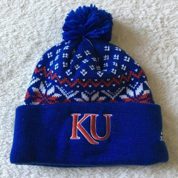 716974a362a University Of Kansas KU Jayhawks Pom Beanie Hat