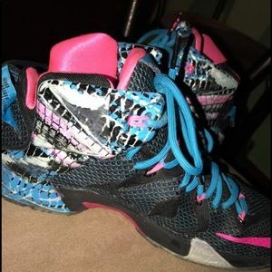 new concept bb14d a372c Nike Shoes - Cotton Candy Lebron 12s