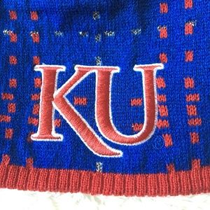 adidas Accessories - University Of Kansas KU Jayhawks Beanie Hat New fe0a1bb7586f