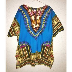 Tribal Print Men's Dashiki Festival Shirt