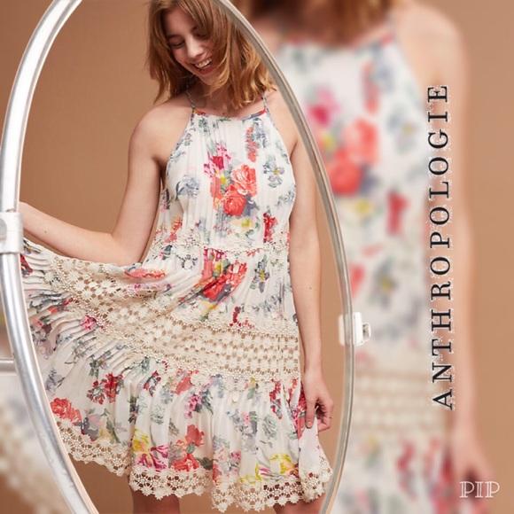 edf76fd7368b Anthropologie Dresses | Kalila Floral Dress Ranna Gill Sp | Poshmark
