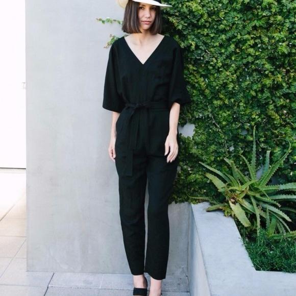 bebfa46f3a28 Madewell Pants - Madewell Black Kimono Jumpsuit Romper - size 2