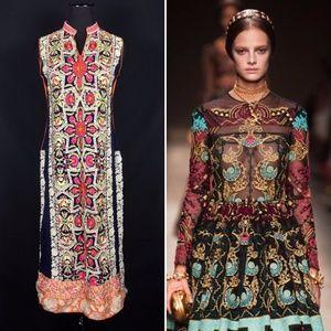 Embroidered Moroccan Sleeveless Long Kurti Tunic