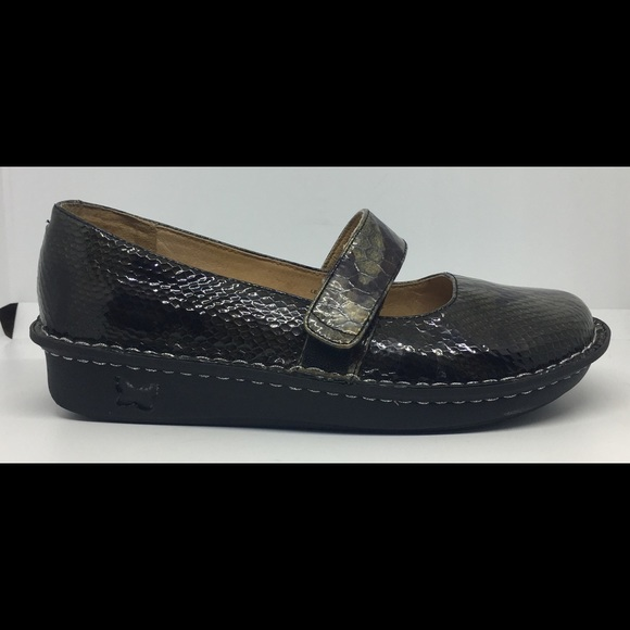 Alegria Feliz Mary Jane Shoes Snakeskin