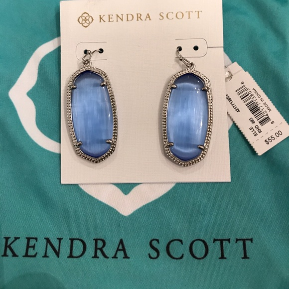 aaad8f1a7 Jewelry | Kendra Scott Elle Earring In Periwinkle Cats Eye | Poshmark