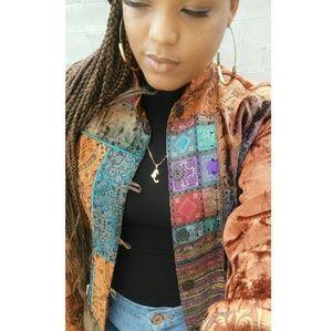 🔥🔥Coldwater creek patchwork jacket🔥🔥