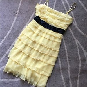 BCBG MAX AZRIA Yellow Tiered Lime Yellow Cocktail