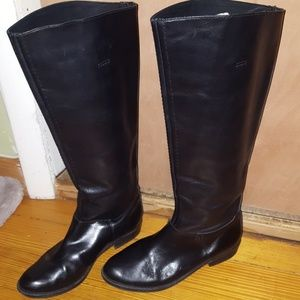 7 For All Mankind Leather Calf Knee High Riding