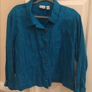 Chico's light weight button up jacket!