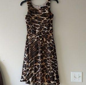 Semiformal leopard print dress