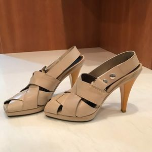 MARNI Beige and Yellow Leather Heels Size 8