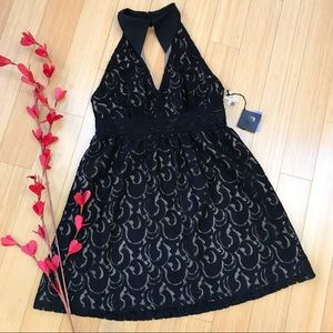NWT!  Anna Sui black lace cocktail dress, S.