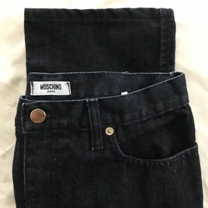 Moschino dark wash blue jeans