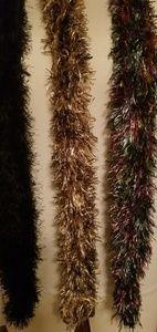 3 plush scarves