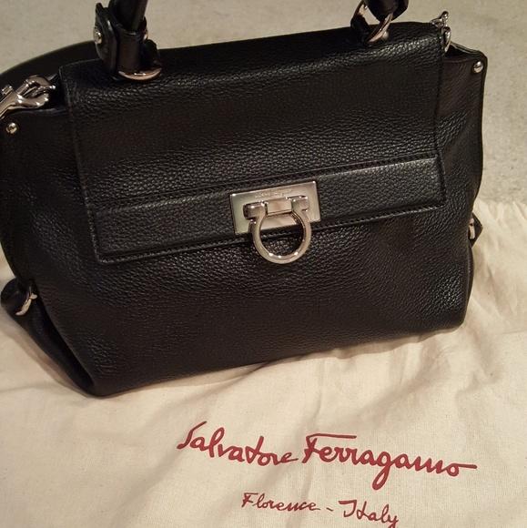 5b265842e0 Salvatore Ferragamo Small Black Sofia Bag. M 5a04fa66d14d7b7d0905531c