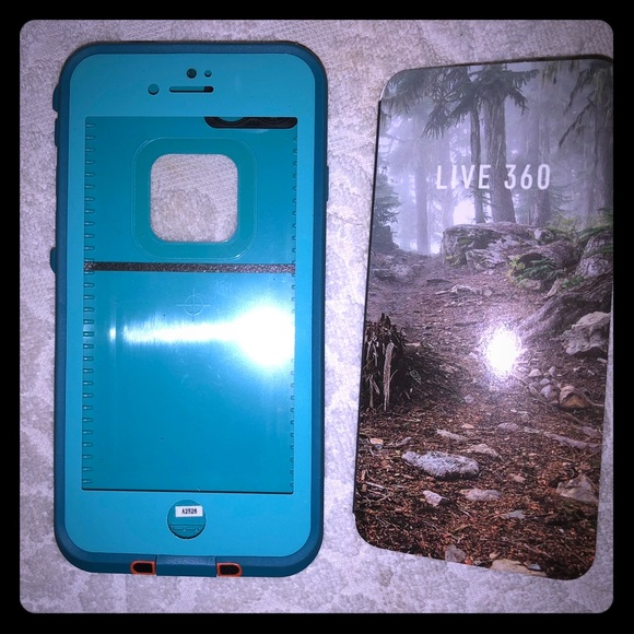 separation shoes 4a606 0f9da Life proof iPhone 7 case sunset bay teal