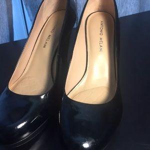 Antonio Melani Black Platform Dress Pumps Heels 9M