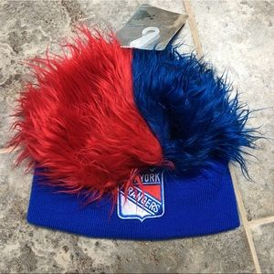 New York Rangers Fuzzy Wig Hat