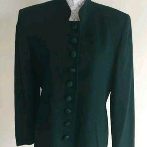 Rare green Christian Dior blazer vintage button