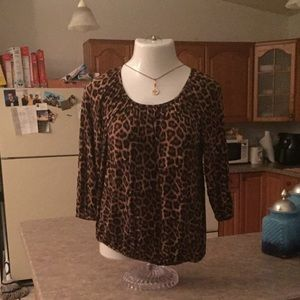 Michael Kors Animal Print Bubble Tunic Tee MP