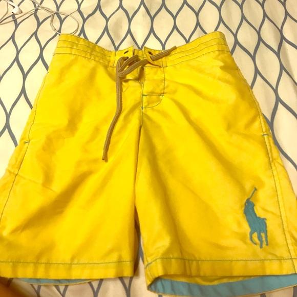 62ba5c101e2190 Polo by Ralph Lauren Swim | Polo Yellow Boys Shorts | Poshmark