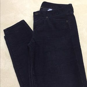 J Crew navy blue skinny corduroy pants