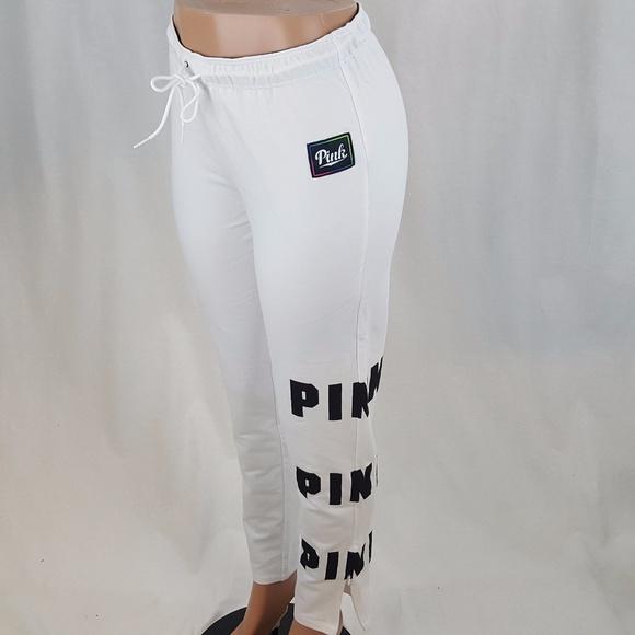 8183abf495aee NEW Victoria's Secret Sweatpants White Athletic