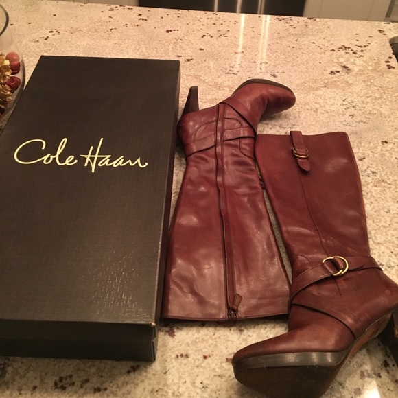 b434659e59 Cole Haan Shoes - Cole Haan Air Courtney Boot, Chestnut Sz9.5