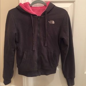 The North Face reversible zip up hoodie!