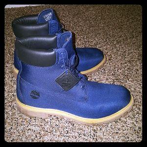 3baf8837db7 Timberland Shoes - Custom blue timberlands never worn