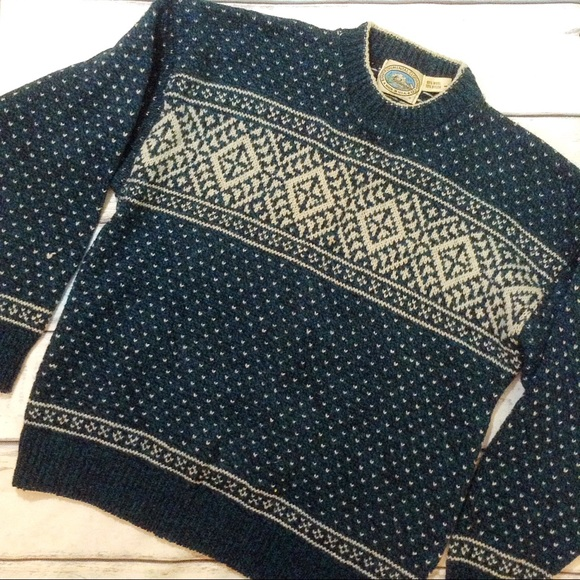 79% off Vintage Sweaters - VTG Oversized Fair Isle Chunky Knit ...