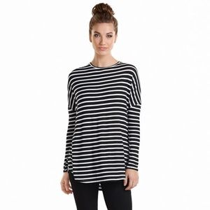 Mudpie Sanders Jersey Striped Tunic