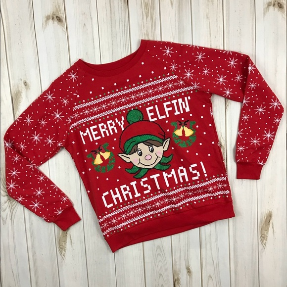 Rue 21 Tops Funny Merry Elfin Christmas Crewneck Poshmark