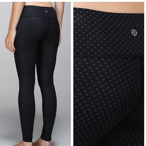 707867a4116ad5 lululemon athletica Pants | New Lululemon Polka Dot Leggings Size 8 ...