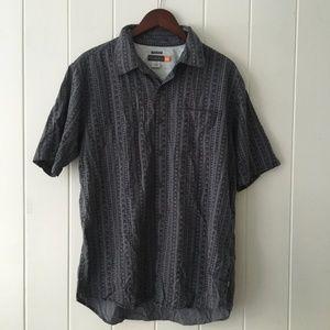 Quiksilver Men's Tribal Hawaiian Button Down Shirt
