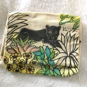 The jungle Panther canvas clutch
